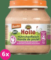 6x HOLLE Bio Kuracie mäso - masový príkrm, 125g