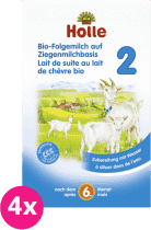 4x HOLLE Bio dojčenská mliečna výživa na báze kozieho mlieka 2, 400g