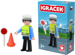 IGRÁČEK Policjant ruchu drogowego z akcesoriami