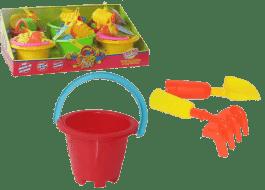 HM STUDIO Kýblik na piesok s príslušenstvo mix farieb - záhradné náradie