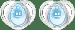 TOMMEE TIPPEE Šidítko CTN silikon Any Time 2ks 0-6m-modré