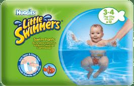 HUGGIES® Little Swimmers rozmiar 3-4 (7-15kg) 12 szt. - jednorazowe pieluchy do pływania