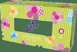 LINTEO Satin Papírové kapesníky Box 200 ks, bílé, 2 vrstvé