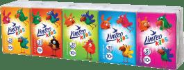 LINTEO KIDS Papierové vreckovky Mini 10x10, biele, 3 vrstvové
