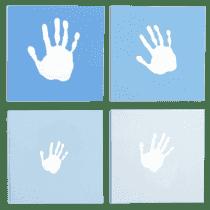 PEARHEAD Rámeček na otisknaše rodina modrý