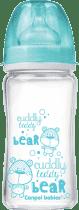 CANPOL Babies Fľaša EasyStart PURE glass 240 ml modrá
