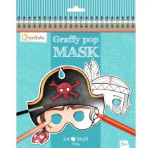 AVENUE MANDARINE Karnawałowe maski do pomalowania dla chłopców, Avenue Mandarine