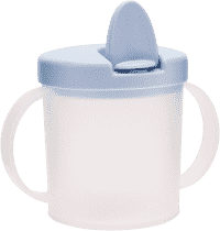 CANPOL Babies Hrníček s pítkem BASIC- modrá 200 ml