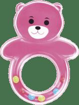 CANPOL Babies Chrastítko medvídek s kuličkama – růžové