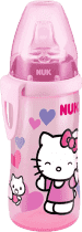 NUK FC Láhev PP Active Cup HELLO KITTY, Silikon, pítko 300ml