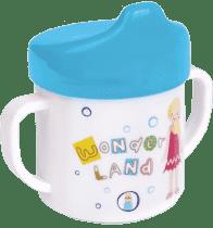 CANPOL Babies Hrneček s pitkem – modrá 200 ml