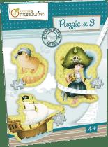 AVENUE MANDARINE Veľké puzzle 3v1 Piráti
