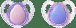 TOMMEE TIPPEE Šidítko Cherry latex 2 ks 0-6m Basic-holka
