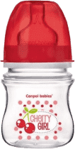 CANPOL Babies Láhev EasyStart jednobarevná 120ml bez BPA holka