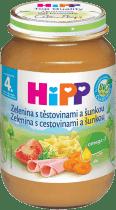 HIPP BIO Zelenina s těstovinami a se šunkou (190 g) - maso-zeleninový příkrm
