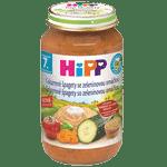 HIPP BIO Celozrnné špagety so zeleninovou omáčkou 220g