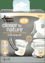 TOMMEE TIPPEE Pojemniki do przechowywania mleka C2N, 4 szt. 0m