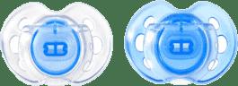 TOMMEE TIPPEE Smoczek uspokajający Air Style 0-6m, silikon, 2 szt. Niebieski