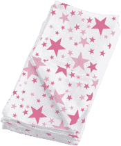 BAMBINO MIO Látkové mušelínové plienky 4ks - Pink Stars