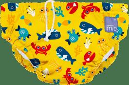 BAMBINO MIO Pieluchomajtki do pływania Deep Sea Yellow rozm. M (7-9kg)