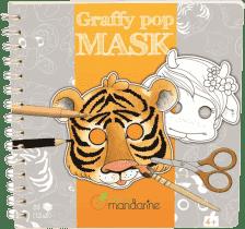 AVENUE MANDARINE Karnevalové masky k vymalování – Zvířátka