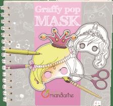 AVENUE MANDARINE Karnevalové masky k vymalování pro holky