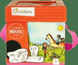 AVENUE MANDARINE Dětská razítka s omalovánkami – Koně