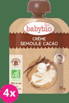 BABYBIO kapsička krém kakao krupička 4x85g