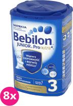 8x BEBILON Junior 3 z Pronutra+ dla dzieci po 12. miesiącu (800g)