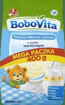 BOBOVITA Kaszka mleczno-ryżowa o smaku waniliowym (400g)