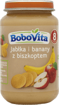 BOBOVITA Jabłka i banany z delikatnym biszkoptem (190g)