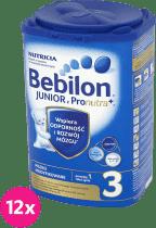 12x BEBILON Junior 3 z Pronutra+ dla dzieci po 12. miesiącu (800g)