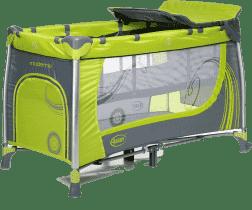 4BABY Cestovní postýlka Moderno – zelená