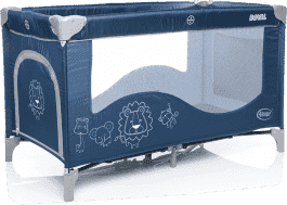 4BABY Cestovní postýlka Royal – modrá