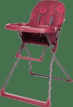 4BABY Židlička Flower – tmavě červená