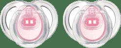TOMMEE TIPPEE Šidítko CTN silikon Any Time 2ks 0-6m-růžové