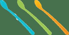 TESCOMA Detská lyžička dlhá BAMBINI, 3 ks - zelená, modrá, růžová