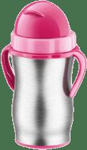 TESCOMA Dětská termoska s brčkem BAMBINI 300ml, nerez-ružová
