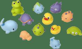 BABYMOOV Zabawki do wody - Przyjaciele MIX 12 szt
