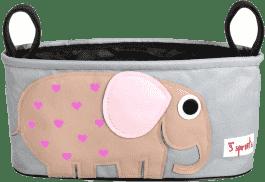 3 SPROUTS Organizér na kočárek Elephant