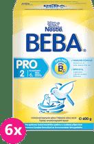 6x NESTLÉ Beba 2 PRO (600 g) - kojenecké mléko