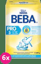6x NESTLÉ BEBA 3 PRO (600g) - dojčenské mlieko