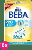 6x NESTLÉ BEBA 1 PRO (600 g) - kojenecké mléko