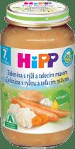HIPP BIO Zelenina s ryžou a teľacím mäsom 220g