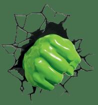 PHILIPS 3D svetlo na stenu Hulkova päsť
