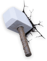 PHILIPS 3D světlo na zeď Thorovo kladivo