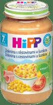 HIPP BIO Zelenina s těstovinami a šunkou (220 g) - maso-zeleninový příkrm