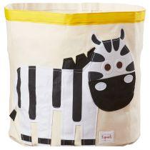 3 SPROUTS Kôš na hračky Zebra