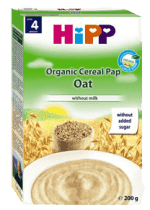HIPP ovesná celozrnná (200 g) - nemléčná kaše
