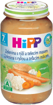 HIPP BIO zelenina s rýží a telecím masem (220 g) - maso-zeleninový příkrm